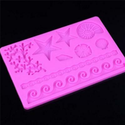 Fashion Clubs Silicone Seashell Sea Life Chocolate/Fondant/Candy Baking Mold WA
