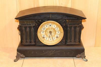 Antique Gilbert Bonnet Top 8 Day Striking Mantle Clock ~A Real Beauty~