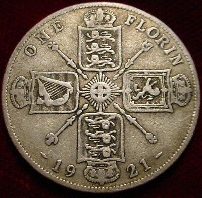 1921 Silver Florin(2 Shillings) Great Britain**nice Details**