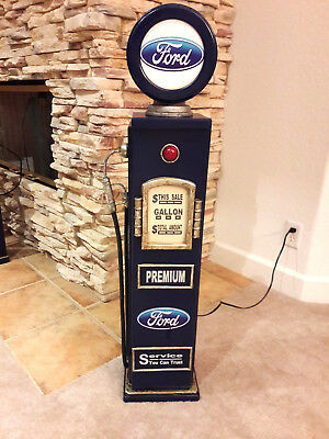 """42"""" FORD Gas Pump Cabinet with light. Mancave/Gameroom."""