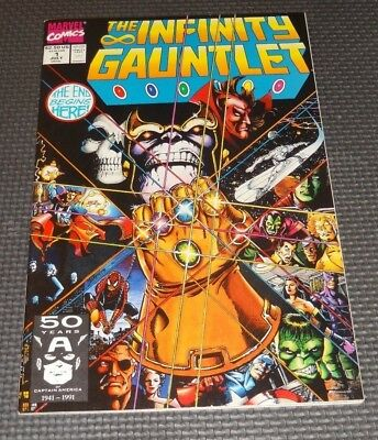 THE INFINITY GAUNTLET #1 (1991) Thanos Avengers Silver Surfer Starlin Marvel
