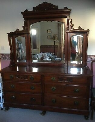 Old Mirror backed sideboard good condition