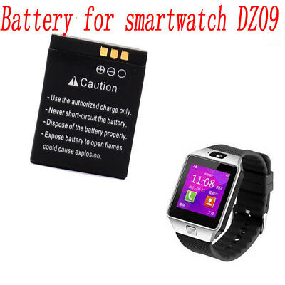 1x Genuine Rechargeable Li-ion Polymer Battery 380mAh 3.7V For DZ09 Smart Watch