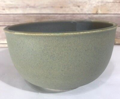 "Art Pottery Bowl Studio Gray Blue Green Diameter 9"" Arts & Craft Mission Style"