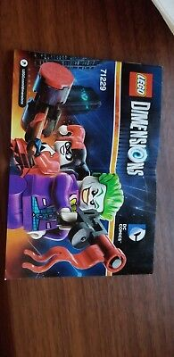 Lego Dimensions Joker Harley DC Comics Team Pack 71229 Instructions only