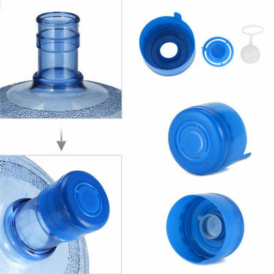 10Pcs Gallon Water Bottle Snap On Cap Anti Splash 55mm Peel Off Tops Replacement