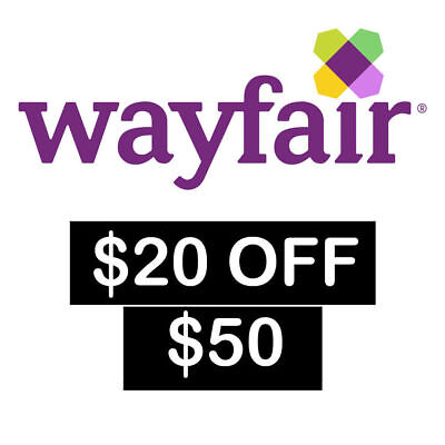 $20 off $50 Wayfair Promo Code for NEW customers only * FAST SHIPPING! *