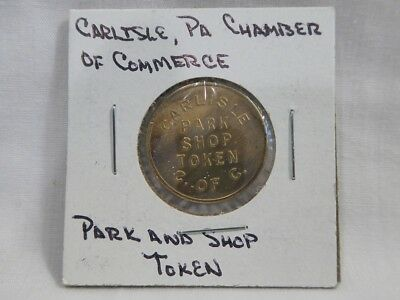 Vintage Carlisle, Pa Chamber Of Commerce Park And Shop Token