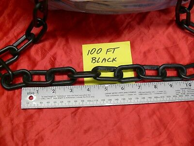 Black Plastic Safety Chain 78 Feet used 2 days.