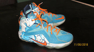buy popular bf6d2 e6b0b ... hot nike lebron 12 gs buckets boys basketball shoes youth size 7y  685181 401 ef333 0fcce
