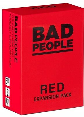 BAD PEOPLE - RED Expansion Pack (100 NEW Question Cards) - The Party Game