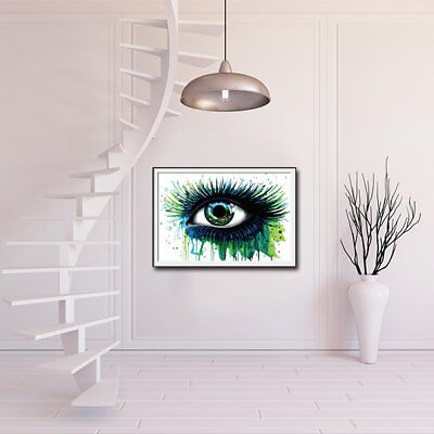 Colorful Handmade Canvas Art Oil Painting Eye Abstract Wall Painting Pictures BB