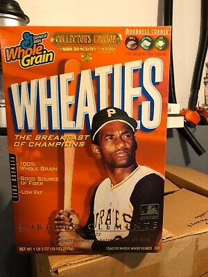 Wheaties Roberto Clemente Collector's Cereal Box 2004