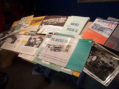Vintage MIEHLE LETTERPRESS MANUALS AND SALE Brochures & MUCH MORE Large Lot !!!