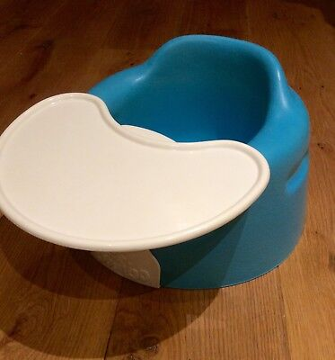 Bumbo With Tray Blue Green Colour Baby Supportive Seat