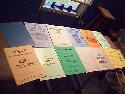 CHALLENGE Paper Cutter & Paper Drills MANUALS & MORE!! Large Lot !!!