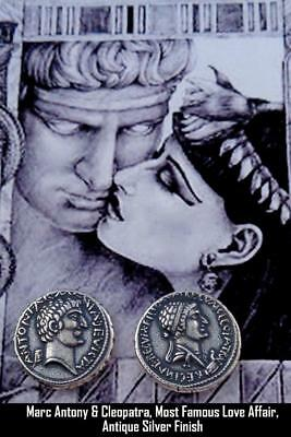 Mark Antony & Cleopatra, Roman Coin, Roman Empire Most Famous Romance (3-S)