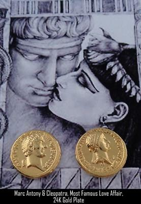 Mark Antony & Cleopatra, Roman Coin, Roman Empire Most Famous Romance (3-G)