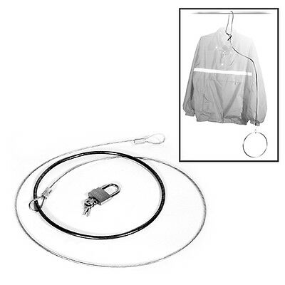 Garment Clothes Hanger Security Anti-Theft Cable Lock Chrome Ring Lot of 24 New