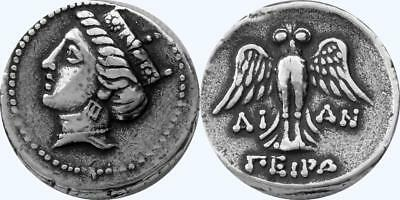 Tyche Goddess of Luck and Fortune Greek Coins, Percy Jackson Teen Gift (PJ6-S)