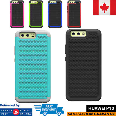 For Huawei P10 Case Hybrid ShockProof Defender Protective Rugged Cover Anti-Slip