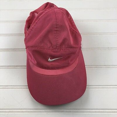 b2286af1452 Nike Hat Girls Cap Pink Adjustable Strap Black Swoosh Just Do it One Size  Youth