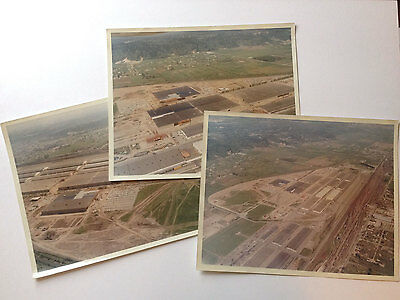 Three Vintage Color Aerial Photographs of a Large Industrial Complex 1950s-1960s