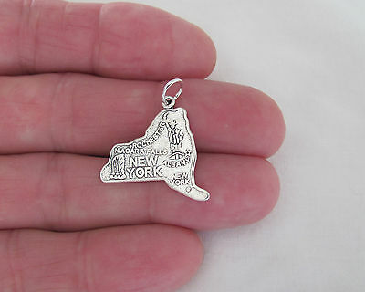 Sterling Silver State of New York charm