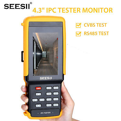 "4.3"" 1080P IPC CCTV Camera Tester Monitor CVBS RS485 Test IP Discovery WIFI 8GB"