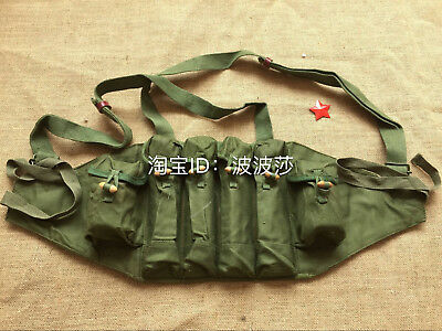 Original Surplus Chicom Chest Vest Chinese 6 Holders Type 81 Chest Rig Mag Bag