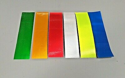 200mm Strip Reflective Tape Hex Fluro Hi Vis Safety - 3M Adhesive 50mm Width