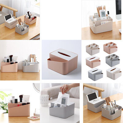 Lovoski Slot Holder Square Desktop Office Supply Storage Box tissue box