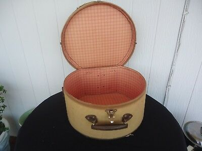 vintage ladies art deco hat box suitcase