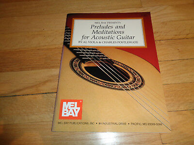 1993 Mel Bay Preludes & Meditations For Acoustic Guitar Book  GREAT CONDITION