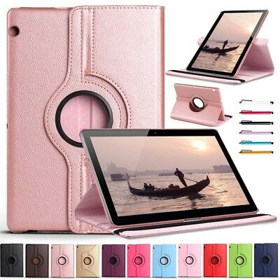 For Huawei Mediapad T3 10 inch Tablet 360° Rotating PU Leather Case Stand Cover