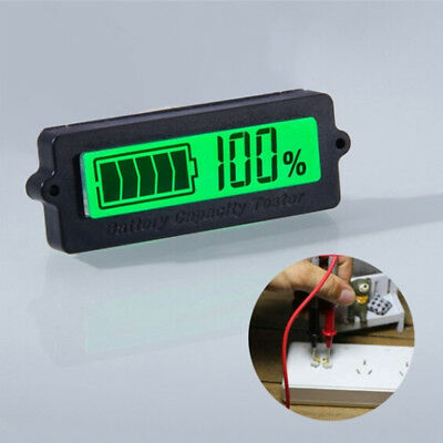 Meter Digital Car Battery Tester Lead-acid Monitor Capacity Indicator Voltmeter