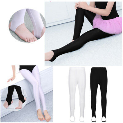 52fb60b83c6fa Child Girls Gymnastics Ballet Dance Long Socks Tights Stirrup Pantyhose  Leotard