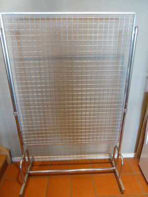 Shop Market Stall Fittings Double side grid mesh stands- Portable: Flatpack down