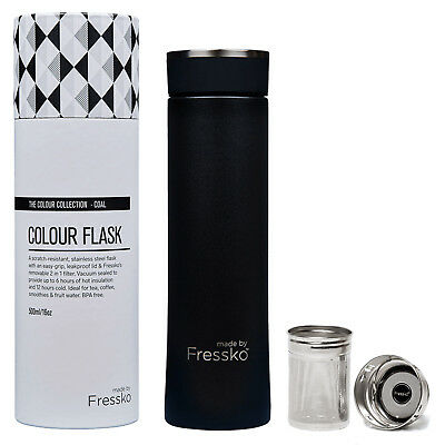 NEW Fressko Colour Collection 500ml : Lagoon - brew tea or sip coffee in style &