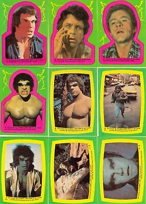 Incredible Hulk - Complete Sticker Card Set (22) - 1979 Topps - NM