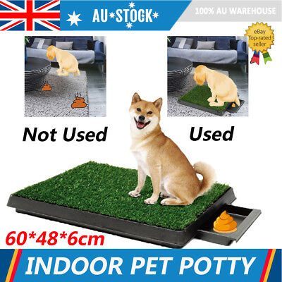 3 Layer Indoor Dog Pet Potty Training Toilet Loo Pad Tray Grass Mat Easy Clean