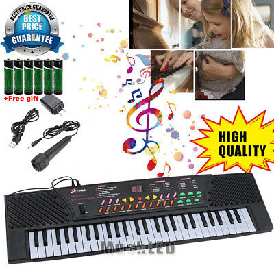 Digital Piano Music Keyboard - Portable Electronic Instrument with Mic - 54 Key