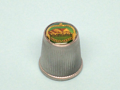 Souvenir Collectible Thimble, Dallas Texas, extra nice thimble, heavy