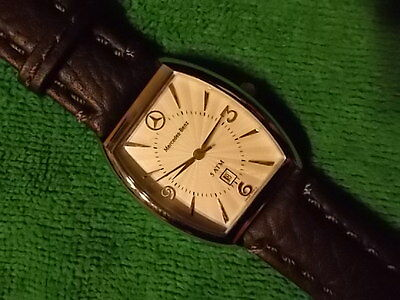 MERCEDES BENZ New Mens WRIST WATCH LEATHER STRAPS Mercedes Collector/ Enthusiast