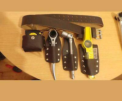scaffolding 100%  LEATHER BELT WITH 4 PCS FULL TOOLS SET