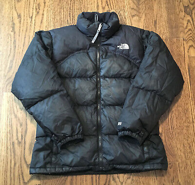 The North Face Down Jacket Girls Large 600 Fill Puffer Nuptse Black