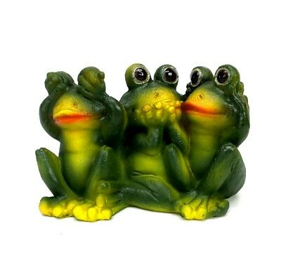 See Hear Speak No Evil Frogs Trio Collectible Frog Figurine