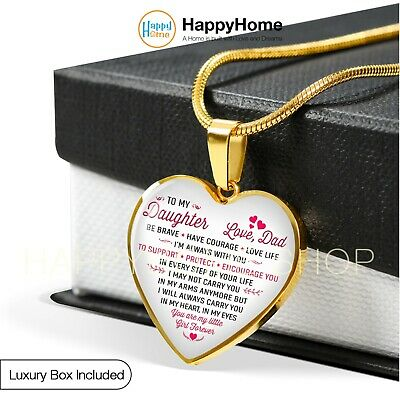 Necklace Birthday Gift For Daughter Love Dad And Jewelry Chain