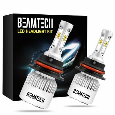 BEAMTECH 9004 HB1 LED Headlight Conversion Bulbs KIT Replace Car High+Low Beam