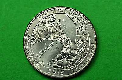 2015-P   BU Mint State ( Blue Ridge Parkway ) US  National Park Quarter